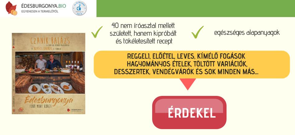 Édesburgonyás receptkönyv
